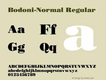 Bodoni-Normal Regular Converted from D:\FONTTEMP\BODNOFFN.TF1 by ALLTYPE Font Sample