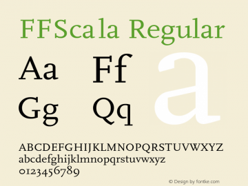 FFScala Regular Converted from f:\win3\system\truetype\FFS_____.TF1 by ALLTYPE Font Sample