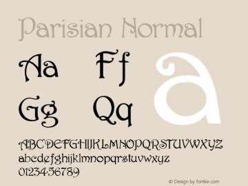 Parisian Normal 1.0/1995: 2.0/2001 Font Sample