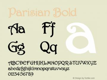 Parisian Bold 1.0/1995: 2.0/2001 Font Sample