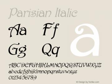 Parisian Italic 1.0/1995: 2.0/2001 Font Sample