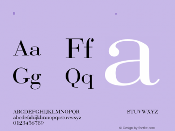 Bodoni-Normal Regular Converted from F:\WINDOWS\TTFONTS\BODONI.TF1 by ALLTYPE Font Sample
