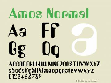 Amos Normal Altsys Fontographer 4.1 1/30/95 Font Sample