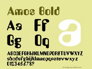 Amos Bold Altsys Fontographer 4.1 1/30/95 Font Sample