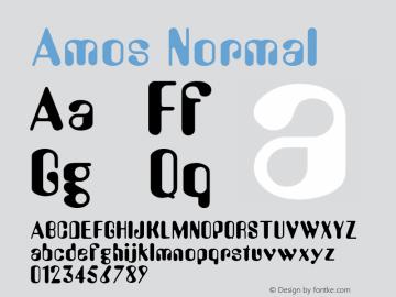 Amos Normal Macromedia Fontographer 4.1.2 8/23/99 Font Sample