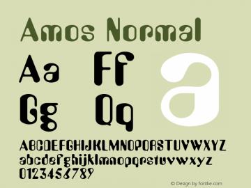 Amos Normal Altsys Fontographer 4.1 5/28/96 Font Sample