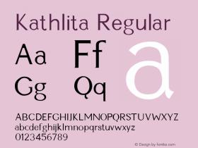 Kathlita Regular Altsys Fontographer 3.5  3/7/92 Font Sample