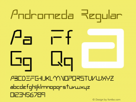 Andromeda Regular Altsys Fontographer 3.5  3/6/92 Font Sample