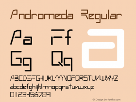 Andromeda Regular 0.0 Font Sample
