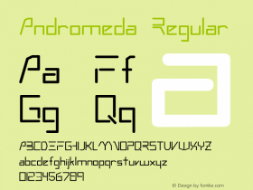 Andromeda Regular Converted from c:\windows\system\ANDRMEDA.TF1 by ALLTYPE Font Sample