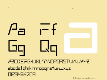 Andromeda Regular Converted from W:\TTF\ANDROMED.TF1 by ALLTYPE Font Sample