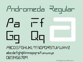 Andromeda Regular Altsys Fontographer 3.5  3/4/93 Font Sample