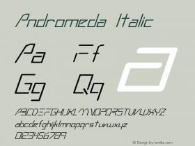 Andromeda Italic Altsys Fontographer 3.5  3/4/93 Font Sample