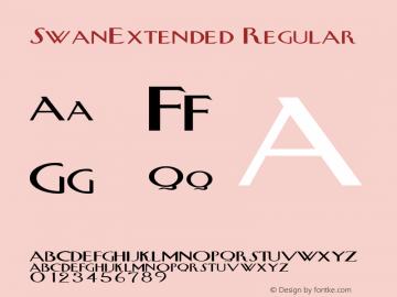 SwanExtended Regular Rev. 003.000 Font Sample