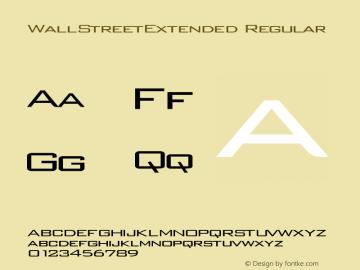 WallStreetExtended Regular Rev. 003.000 Font Sample
