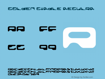 Golden Girdle Regular Version 2.000 2004 Font Sample