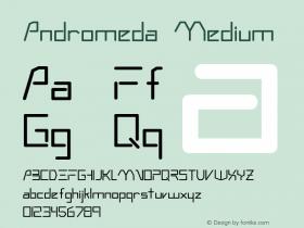 Andromeda Medium Version 001.000 Font Sample
