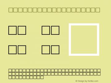 MD_Modern01 Regular Glyph Systems 10-jun-93 Font Sample