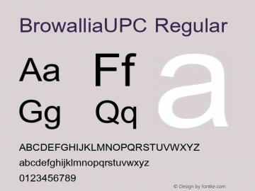 BrowalliaUPC Regular Version 2.20 Font Sample