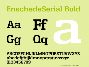 EnschedeSerial Bold Version 1.0 27-08-2002 Font Sample