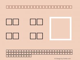 MD_Zouchrouf_1 Regular Glyph Systems 10-jun-93 Font Sample