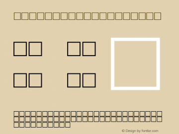 MD_Style_01 Regular Glyph Systems 10-jun-93 Font Sample