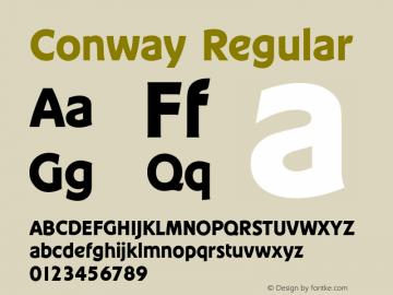 Conway Regular Version 1.0 08-10-2002 Font Sample
