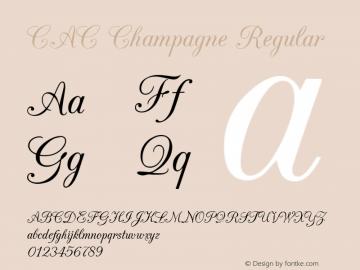 CAC Champagne Regular v1.2 8/28/96 Font Sample