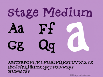 Stage Medium 001.000 Font Sample