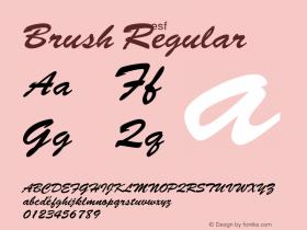 Brush Regular Macromedia Fontographer 4.1 1/7/97 Font Sample