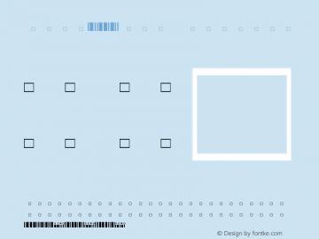 Code25XXS Regular Version 1.10 2004-11-28 Font Sample