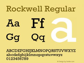 Rockwell Regular 4图片样张