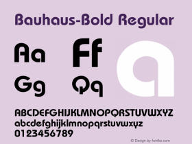 Bauhaus-Bold Regular Converted from D:\FONTTEMP\BAHAMASB.TF1 by ALLTYPE Font Sample