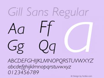 Gill Sans Regular 001.003 Font Sample