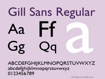 Gill Sans Regular 001.003图片样张