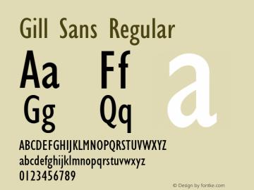Gill Sans Regular 001.002 Font Sample
