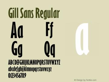 Gill Sans Regular 001.000图片样张