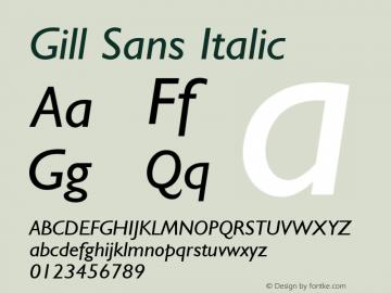 Gill Sans Italic 001.000图片样张