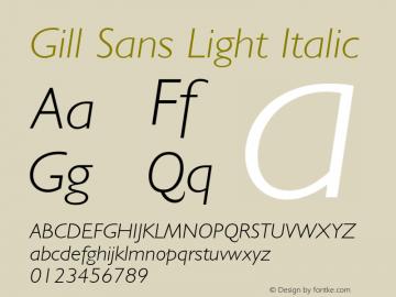 Gill Sans Light Italic 001.000图片样张