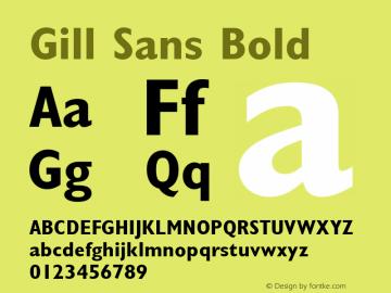 Gill Sans Bold 001.000图片样张