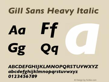 Gill Sans Heavy Italic 001.003图片样张