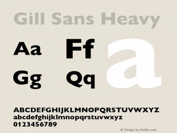 Gill Sans Heavy 001.003图片样张