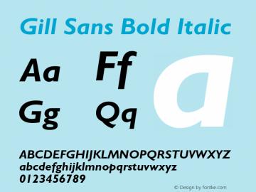 Gill Sans Bold Italic 001.000图片样张