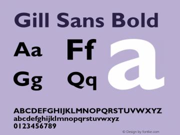 Gill Sans Bold 001.000 Font Sample
