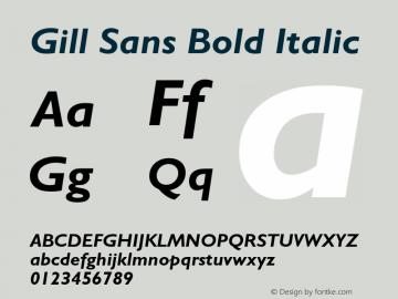 Gill Sans Bold Italic 4图片样张