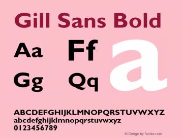 Gill Sans Bold 001.001 Font Sample