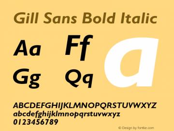 Gill Sans Bold Italic 001.002图片样张