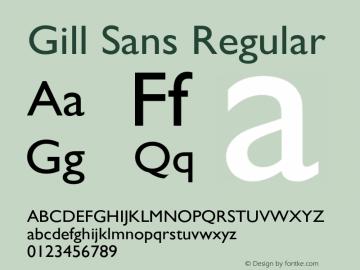 Gill Sans Regular 3图片样张