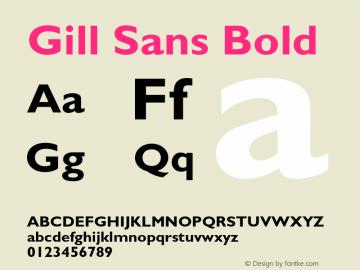 Gill Sans Bold 3图片样张