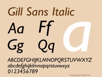 Gill Sans Italic 4图片样张